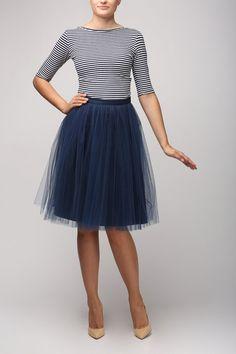 Tulle skirt Blue tulle skirt Light tulle skirt by Fanfaronada-$92.39-Assorted Colors