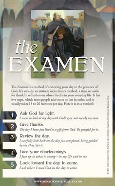 This is a link to a simple examen prayer card for practitioners interested in a daily examination of conscience as a means of deepening their spiritual reflections. Catholic Religion, Catholic Quotes, Catholic Prayers, Catholic Theology, Catholic Answers, Catholic Saints, Ignatian Spirituality, St Ignatius Of Loyola, Spirituality