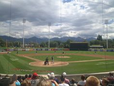 Salt Lake City Bees Baseball versus Reno Aces at Spring Mobile Stadium in Utah Bee City, Minor League Baseball, Salt Lake City Utah, Baseball Field, Bees, Diamonds, Logos, Spring, Wood Bees