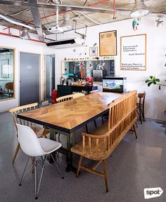 The Space Encounters office showcases consistent branding, a refined take on mid-century design through finishes and furniture, and thoughtful details. Cool Office, Mid Century Design, Manila, Offices, Ph, My Design, Cool Designs, Urban, Lifestyle