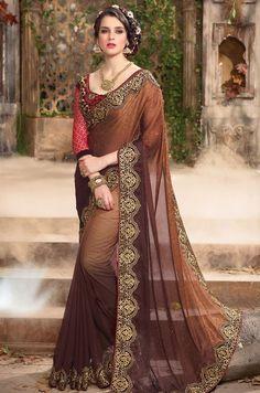 Fantastic Brown Saree