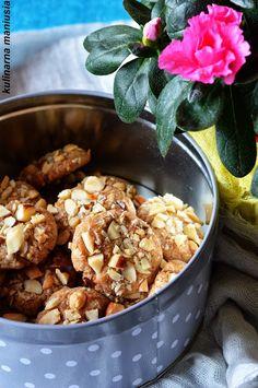 Ciastka z orzechami niski indeks glikemiczny | Kulinarna Maniusia: Blog kulinarny. Przepisy kulinarne. Glycemic Index, Snack Recipes, Snacks, Truffles, Paleo, Food And Drink, Sweets, Cookies, Baking