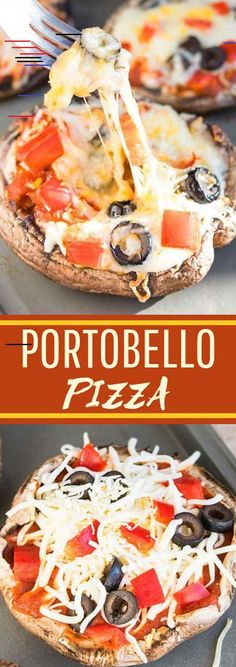 Quick and easy portobello mushroom pizza ready in 20 minutes. It's a vegan, gluten free, low carb and healthy alternative to regular pizza. Pizza Recipe Pillsbury, Sausage Pizza Recipe, Pizza Recipe Video, Stromboli Recipe, Portobello, Healthy Diet Recipes, Gourmet Recipes, Delicious Recipes, Healthy Eating