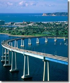 Coronado, CA been over that bridge :) scariest thing/most awesome thing ever!!! :D