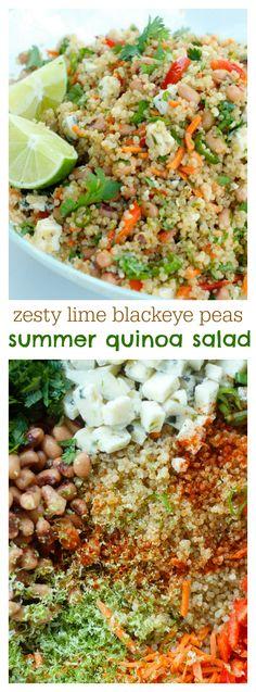 Zesty Lime Blackeye Peas Summer Quinoa Salad