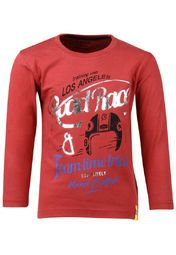 Your little master will look smart in this red coloured T-shirt from Gini & Jony. This full-sleeved T-shirt is made from 100% cotton that makes it soft against the skin. The attractive print on the front will surely catch his fancy instantly. Team this T-shirt with a pair of jeans or cargos as you dress him up for a family outing.