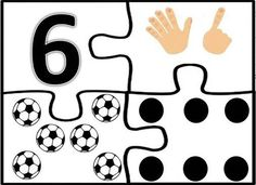 6 Numbers Preschool, Learning Numbers, Preschool Math, Kindergarten, Puzzles Numeros, Kids Daycare, Kids Learning Activities, Printing Labels, Math Worksheets