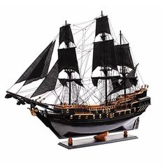 The Black Pearl, originally Wicked Wench, is a fictional ship in Pirates of the Caribbean. In the screenplay, the Black Pearl is easily recognized by her distinctive black hull and sails. This turns out to be an advantage in more than one way.