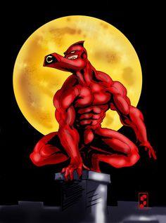 The Crimson Chin, voiced by Jay Leno. | Zap! Bam! Comic ...