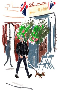 The illustrator Damien Florébert Cuypers draws the models, designers, buyers, bloggers — and looks — at the spring/summer 2017 collections.