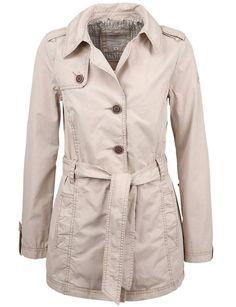 S. Oliver Damen Trench Jacke beige Neu Gr.44 kaufen bei Hood.de - Größe 44 Farbrichtung Beige Material Baumwolle