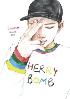 BTS rap monster fan art