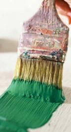 Make your own safe and natural paint.  You can make different types based on the type of surfaces you have and climate you live in from motherearthnews.com.