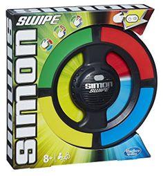 Hasbro - A8766 - Simon Swipe - Jeu De Memoire Electronique - Version Anglaise