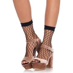 7136d06f5e6 Diamond Net Anklet Socks - in black (Girls Socks). Made by Leg Avenue Go  Totally in these one size fits all little anklets.