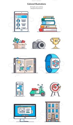 Create a unique illustration for a website, application, or presentation. There are 80 awesome illustrations in the pack. Changing and overlapping them, you can quickly illustrate the necessary ideas. Line Illustration, Creative Illustration, Character Illustration, Graphic Design Illustration, Website Illustration, Line Design, App Design, Icon Design, Simple Line Drawings