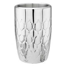 Avante Embossed Silver Stainless Steel Double Walled Wine Chiller