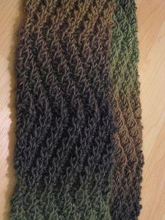 Zigzag  scarf Free knit