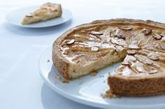 Serve up an Almond-Pear Cream Cheese Torte at your next get together. This beautiful Almond-Pear Cream Cheese Torte wouldn't look out of place in the finest Viennese bakery. But the recipe is straightforward and very do-able. Cream Cheese Desserts, Cream Cheese Spreads, Cream Cheese Recipes, Cookie Desserts, Just Desserts, Dessert Recipes, Elegant Desserts, Sweet Desserts, Cheesecake Recipes