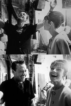 Audrey Hepburn and William Holden on the set of Paris when it sizzles, 1962