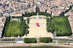 Bordeaux : vue aérienne de la Place des Quinconces