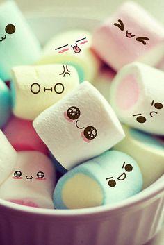 marshmallows gezichtjes
