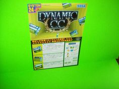 DYNAMIC CC COUNTRY CLUB By SEGA 1991 RARE ORIGINAL NOS VIDEO ARCADE GAME FLYER #DynamicCC #SegaArcadeFlyer