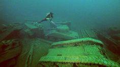Underwater tank graveyard off the coast of Donegal, Ireland