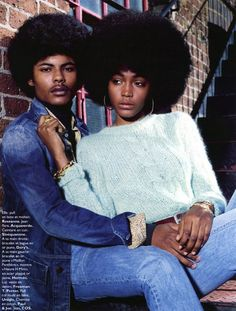 70s couple loveee it the afros r dope