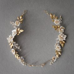 Darling details on this floral halo. Equal parts wild and romantic …