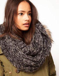 Asos Textured Knit Snood - ShopStyle Scarves & Wraps