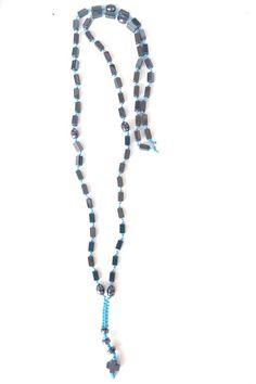ΑΝΔΡΙΚΟ ΡΟΖΑΡΙΟ ΜΕ ΑΙΜΑΤΙΤΗ ΚΑΙ ΣΤΑΥΡΟ Beaded Necklace, Handmade, Jewelry, Fashion, Beaded Collar, Moda, Hand Made, Jewlery, Pearl Necklace