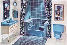 1961 American Standard Bathroom - Blue