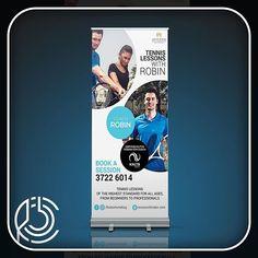 Outdoor Advertising for 'Tennis with Robin'.⠀  ⠀  #Koohejico #kooheji #brand #identity #marketing #design #graphicdesign #bahrain #tennis #tennisbahrain