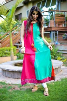 Cloth is a brand for women's wear. It was founded in Cloth summer collection 2013 for girls and women can be seen here. Ethnic Outfits, Indian Outfits, Indian Clothes, Pakistani Dresses, Indian Dresses, Pakistani Kurta, Pakistani Bridal, Indian Attire, Indian Wear
