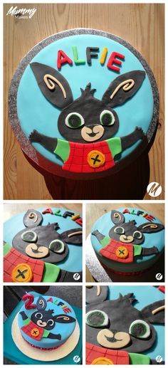 Bunny Birthday Cake, Birthday Cale, Baby Boy Birthday, 2nd Birthday Parties, Bing Hase, Cbeebies Cake, Bing Bunny, Rabbit Cake, Cake Pictures