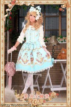 Infanta-love-canary-lolita-dress-JSK-cosplay-classic-costume-tea-party-S-XL