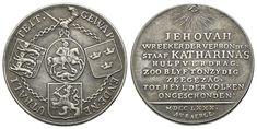 Niederländische Medaille 1780, von Baerll. Auf die Neutralität zwischen Russland, den Niederlanden, Dänemark und Schweden Personalized Items, Netherlands, Crests, Russia, Sweden