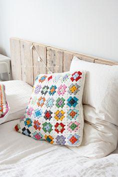 granny square pillow by IDA Interior LifeStyle, via Flickr