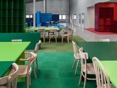 Color always give health | Combiwerk Delft | Sober Design... seen in Frame Magazine
