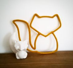 Etsy - Buy handmade, vintage, personalized and unique gifts for everyone, Wool fox made with knitting. Spool Knitting, Diy Bebe, Diy Projects To Try, Diy For Kids, Diy Design, Lana, Etsy, Unique Gifts, Handmade