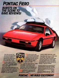 Pontiac 1984 Fiero Ad
