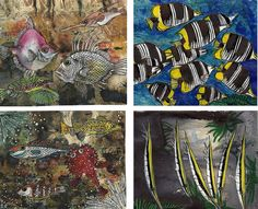 Fishes Miniatures, Fish, Painting, Art, Art Background, Pisces, Painting Art, Kunst, Paintings