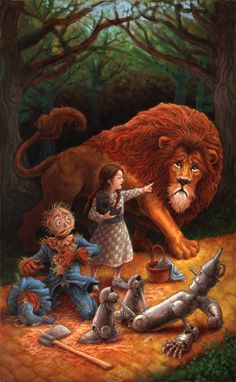 Dorothy and the Lion by ~GoldenDaniel on deviantART