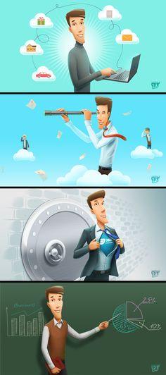 Weatherman Vector Character