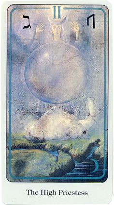 High Priestess, Haindl Tarot. Another deck I once has but seems to have gone elsewhere....