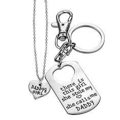 ELOI Daddy's Girl Necklace Father Daughter Jewelry Dad Gifts From Daughter Gift for Father 17 inch Personalized Gifts For Dad, Dad Gifts, Gifts For Father, Daddys Girl, Girls Necklaces, Father Daughter, Mom Birthday, S Girls, Dog Tag Necklace