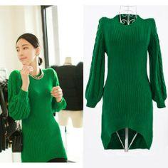 Fashion Sexy Vintage Puff Long Fishtail Containing Wool Sweater Dresses CuteME Clothing,http://www.amazon.com/dp/B00EGHOCQQ/ref=cm_sw_r_pi_dp_oKIYsb00MNN3G498
