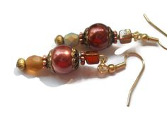 Chocolate Pearl Earrings Brown Pearl Jewelry by chicagolandia, $21.00