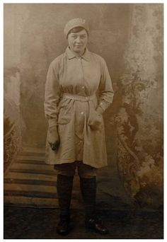Sarah Tolson pictured outside the munitions factory she worked at during ww1